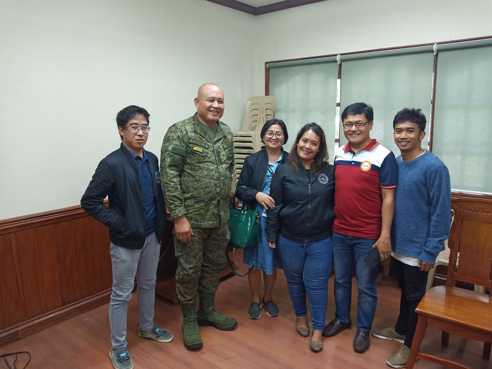 DILG AURORA AS PTF SECRETARIAT ALONG WITH COL ANDREW D. COSTELO INF GSC PA BRUGADE COMMANDER 70RD BRIGADE PA DURING THE THE PTF MEMBERS HEADED BY GOV. GERARDO A. NOVERAS ON THE JO