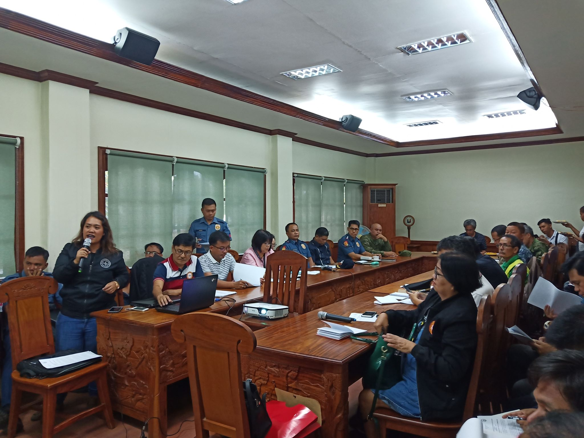 THE PTF MEMBERS HEADED BY GOV. GERARDO A. NOVERAS ON THE JOINT PDC PPOC AND PADAC MEETING