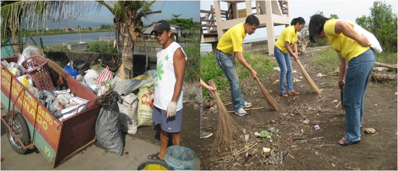 DILG Bataan took the lead in cleanup drive along the shoreline of Brgy. Tortugas, Balanga City.