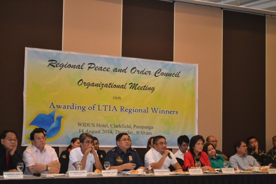 Gov. Aurelio Umali presides over the RPOC Organizational Meeting