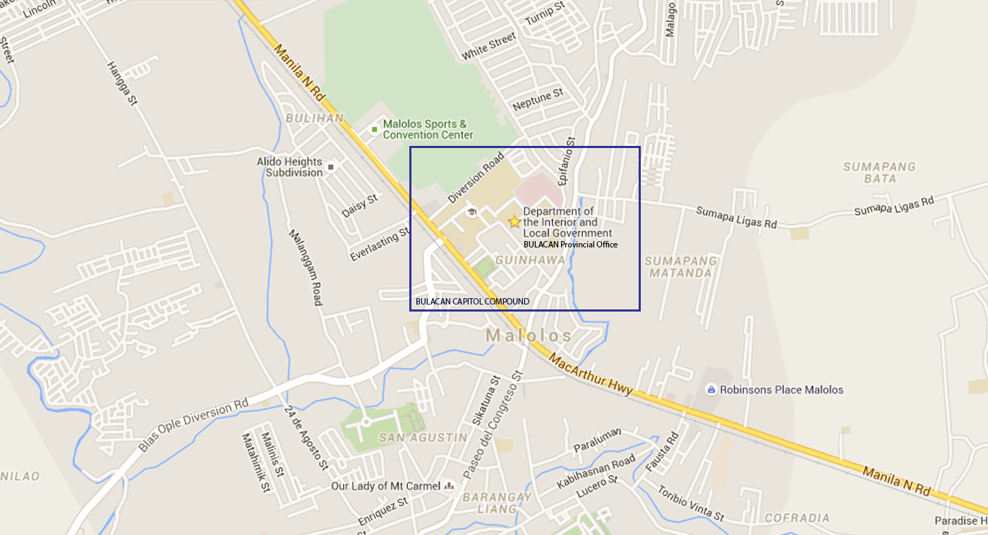 Location Map - Bulacan map philippines