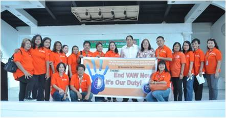 Women and Children Protection Council of Olongapo City during the kick-off activity