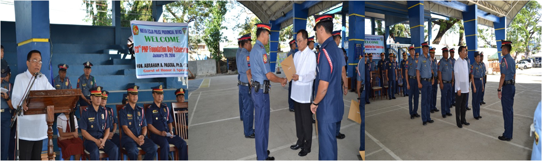 Provincial Director Abraham A. Pascua, joined the Celebration of the 23rd PNP Foundation Day on January 20, 2014 at Nueva Ecija Police Provincial Office (NEPPO) Gymnasium.