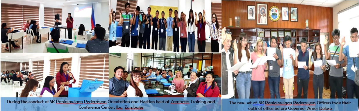 The newly elected Barangay Officials of Zambales are sworn into office by Gov. Ebdane while various functionaries and stakeholders served as witnesses