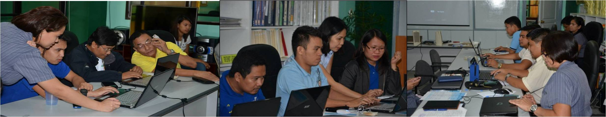 Participants doing hands-on exercises on Google Drive and LGU Database System
